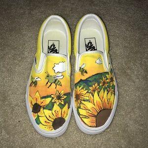 Vans Shoes   Tyler The Creator Flower